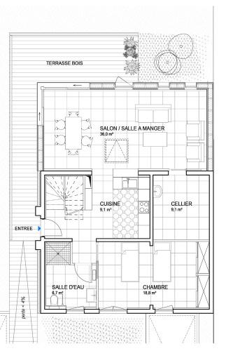 Extension et mise en accessibilité d'une maison à Petit Port - Nantes : MKH-architecte-Extension-Nantes-quartiers-nord-44