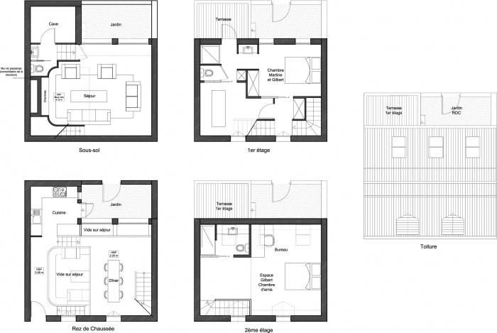 Maison Individuelle : Maison Individuelle Plans