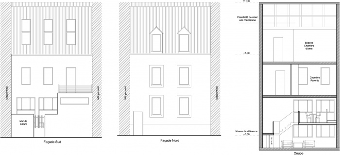 maison individuelle paris 18 me une r alisation de alvin pakeeroo. Black Bedroom Furniture Sets. Home Design Ideas