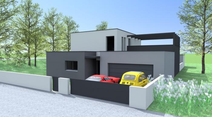Maison neuve - Projet B+B : vue 1