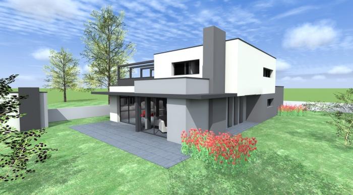 Maison neuve - Projet B+B : vue 4