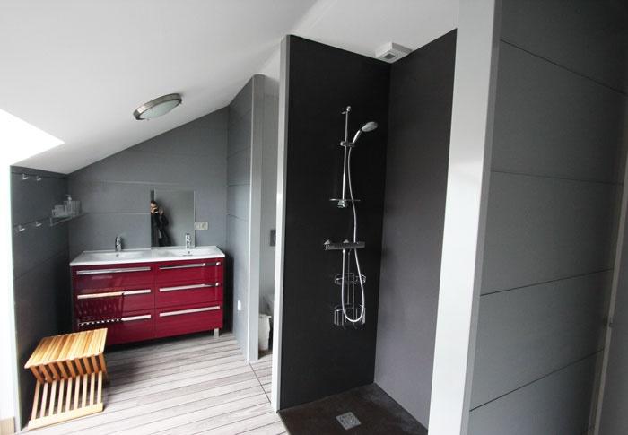 Surélévation P : Aménagement de la salle de bain