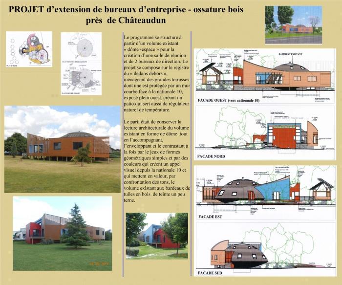 Extension de bureau-structure bois