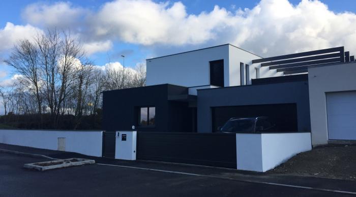 Maison neuve - Projet B+B : 1 Maison d\'architecte rennes architecte dplg rennes 35 architecte 35 53 noyal sur vilaine lise roturier.JPG