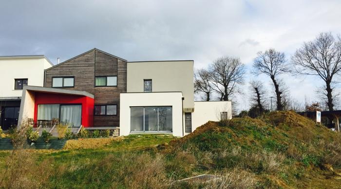 Maison neuve LS+H : 4- Projet maison moderne maison contemporaine agence 2.2 vues 2.2vues rennes servon sur vilaine vitré architecte maitre d\'oeuvre 35 53