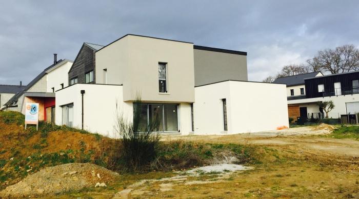 Maison neuve LS+H : 6- Maison neuve cube au rheu rennes laval vitré 35 53 architecte maitre d\'oeuvre lise roturier nicolas monceau