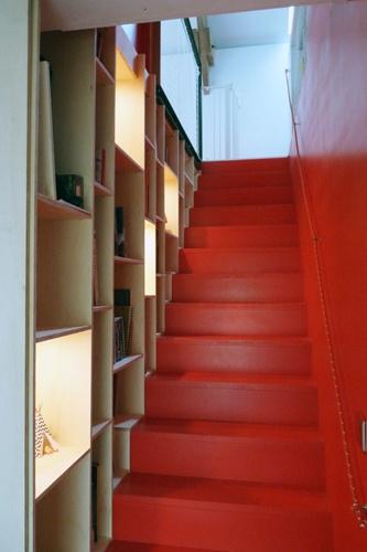 Réhabilitation d'une grange  en maison d'habitation : escalier.JPG