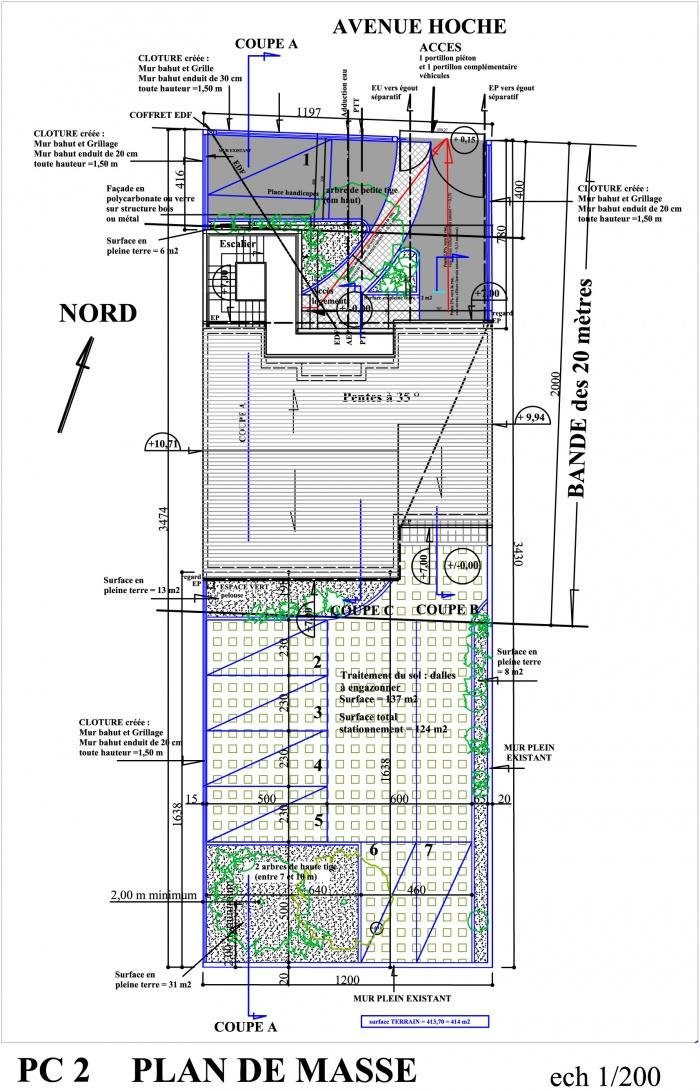 Petit collectif de 5 logements : plan de masse